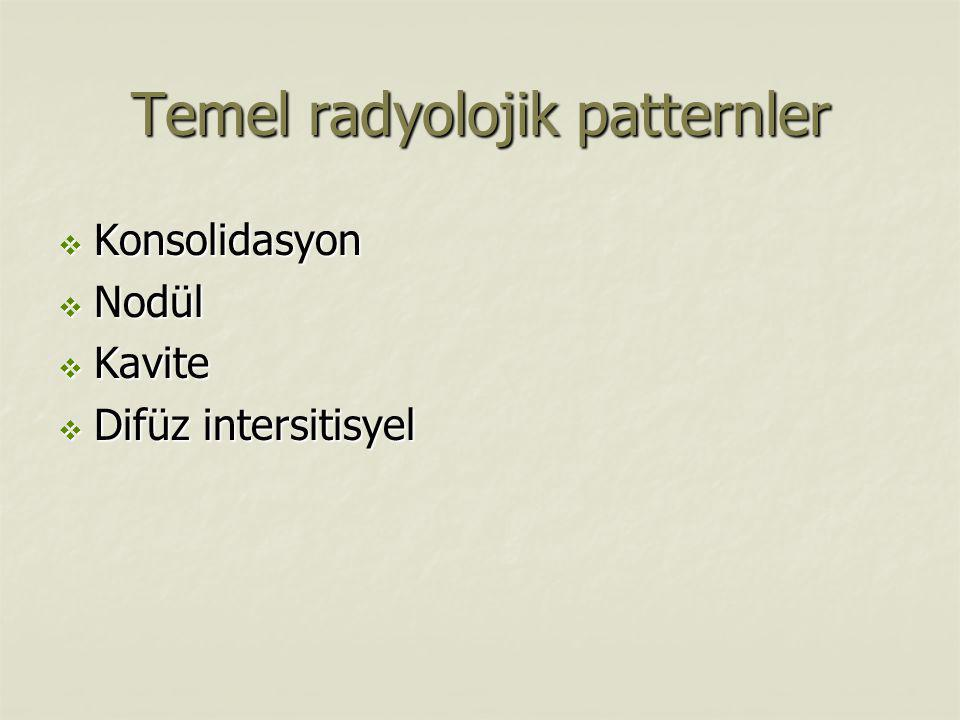 Temel radyolojik patternler