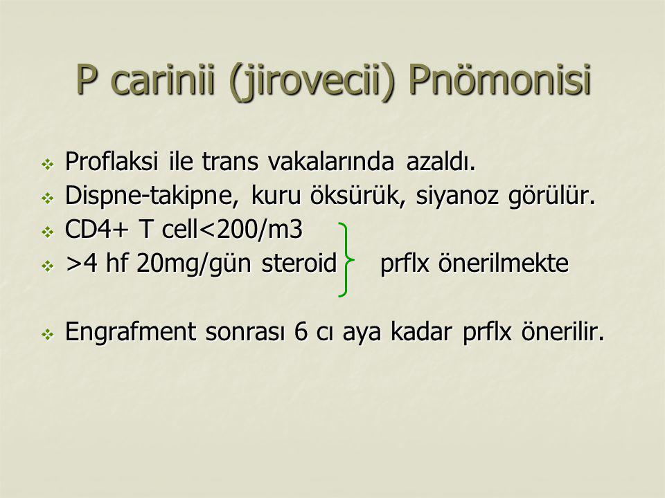 P carinii (jirovecii) Pnömonisi