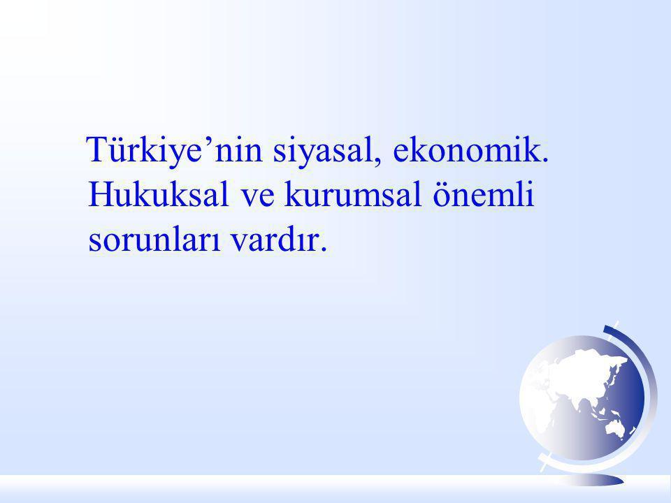Türkiye'nin siyasal, ekonomik