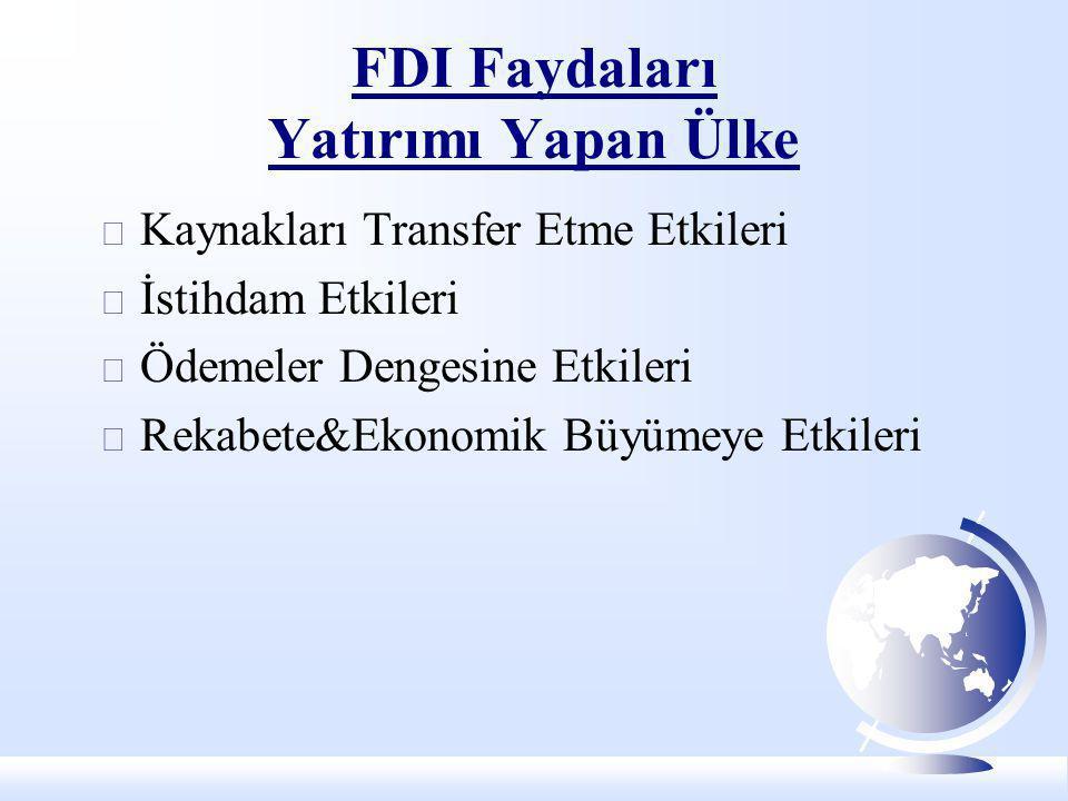 FDI Faydaları Yatırımı Yapan Ülke