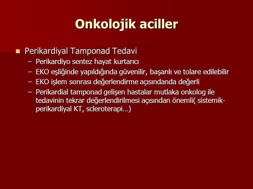 Onkolojik aciller Perikardiyal Tamponad Tedavi