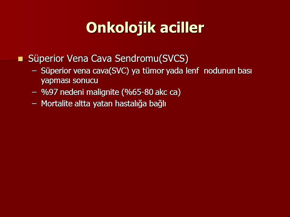 Onkolojik aciller Süperior Vena Cava Sendromu(SVCS)