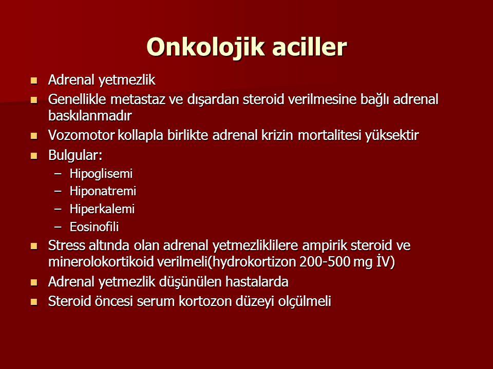 Onkolojik aciller Adrenal yetmezlik