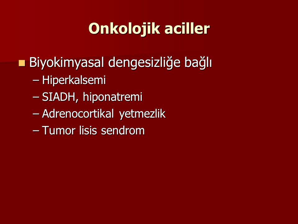 Onkolojik aciller Biyokimyasal dengesizliğe bağlı Hiperkalsemi