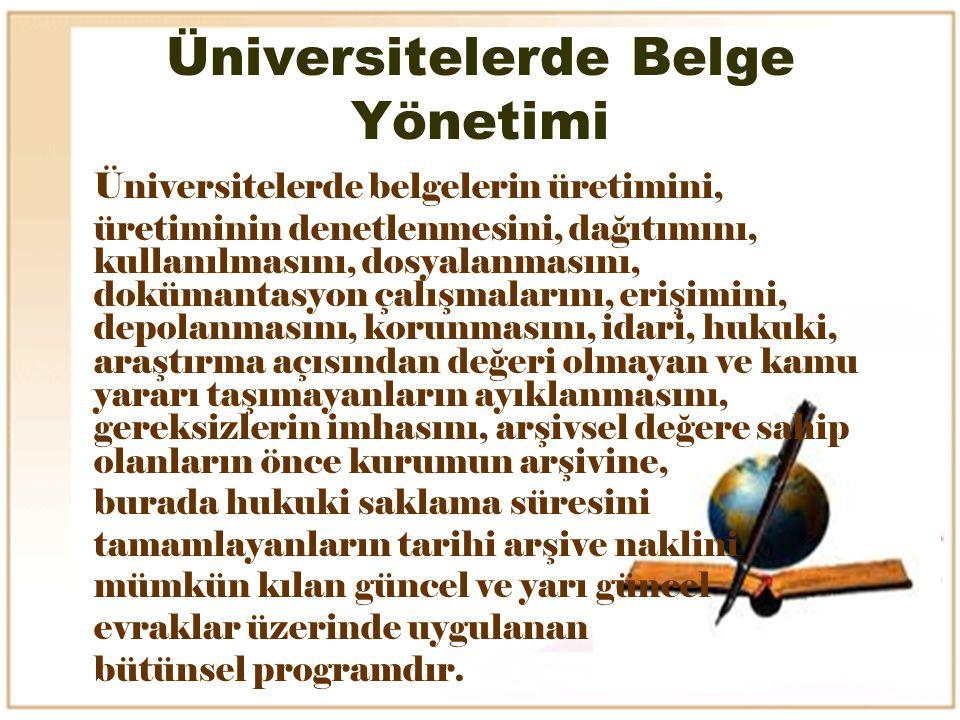 Üniversitelerde Belge Yönetimi