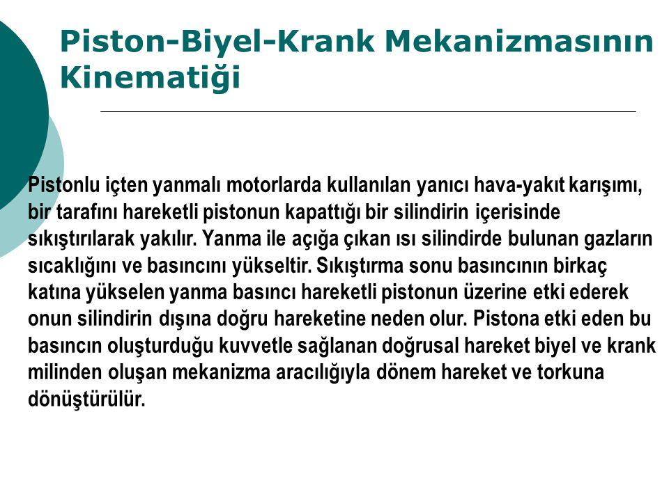 Piston-Biyel-Krank Mekanizmasının Kinematiği