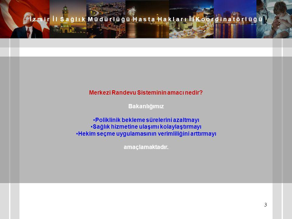 Merkezi Randevu Sisteminin amacı nedir Bakanlığımız