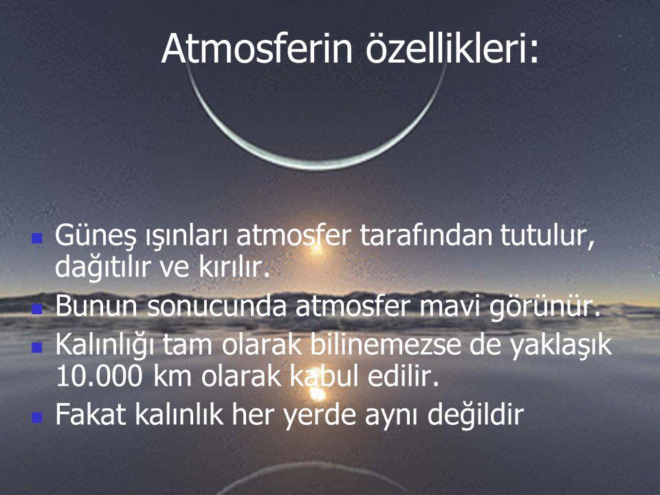 Atmosferin özellikleri: