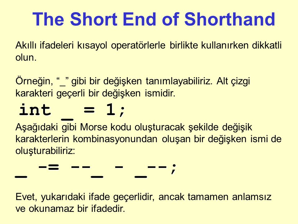 The Short End of Shorthand