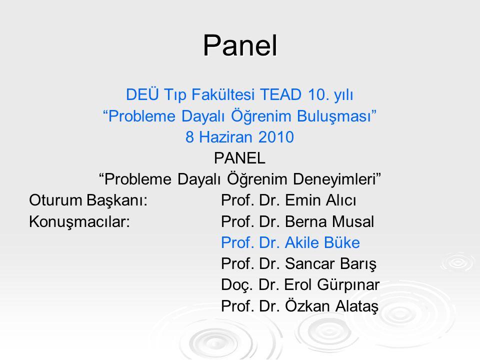 Panel DEÜ Tıp Fakültesi TEAD 10. yılı