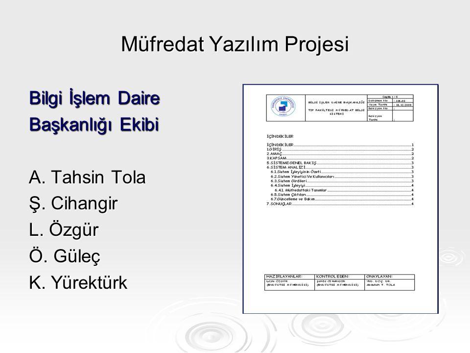 Müfredat Yazılım Projesi