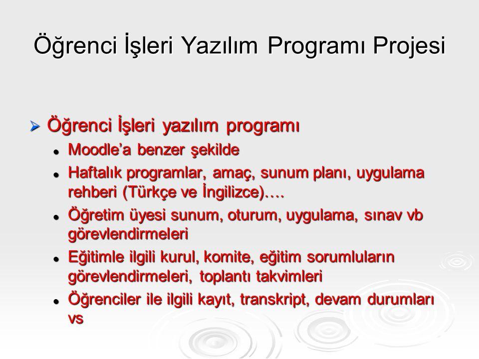 Öğrenci İşleri Yazılım Programı Projesi