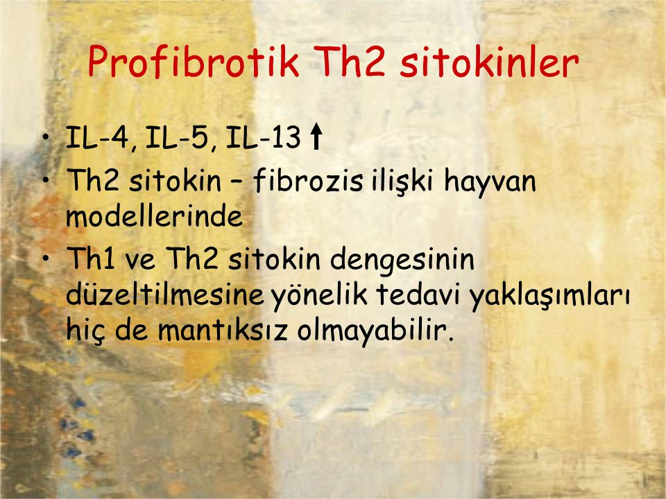 Profibrotik Th2 sitokinler