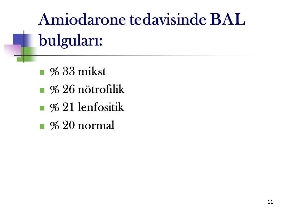 Amiodarone tedavisinde BAL bulguları:
