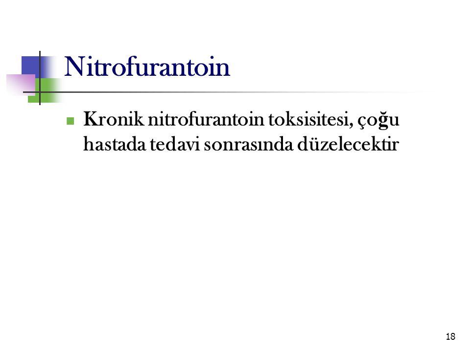 Nitrofurantoin Kronik nitrofurantoin toksisitesi, çoğu hastada tedavi sonrasında düzelecektir