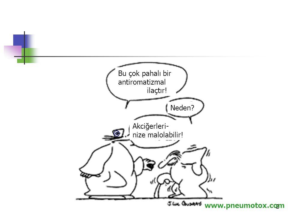 Bu çok pahalı bir antiromatizmal ilaçtır! Neden Akciğerleri- nize malolabilir! © www.pneumotox.com