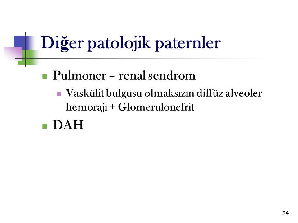 Diğer patolojik paternler