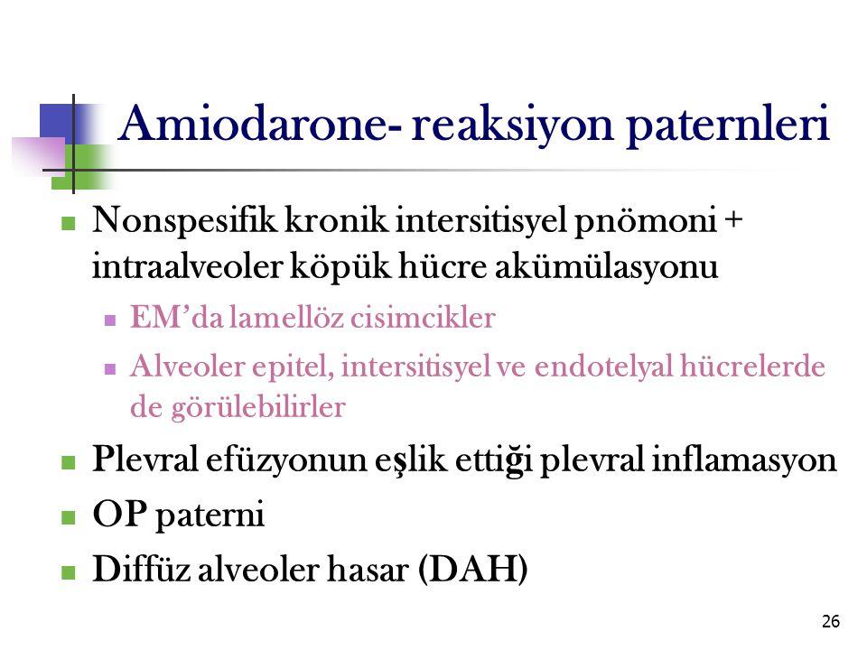 Amiodarone- reaksiyon paternleri