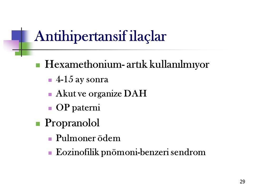 Antihipertansif ilaçlar