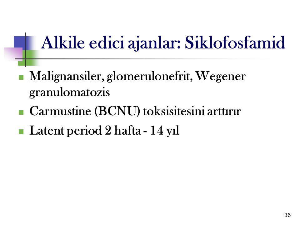 Alkile edici ajanlar: Siklofosfamid