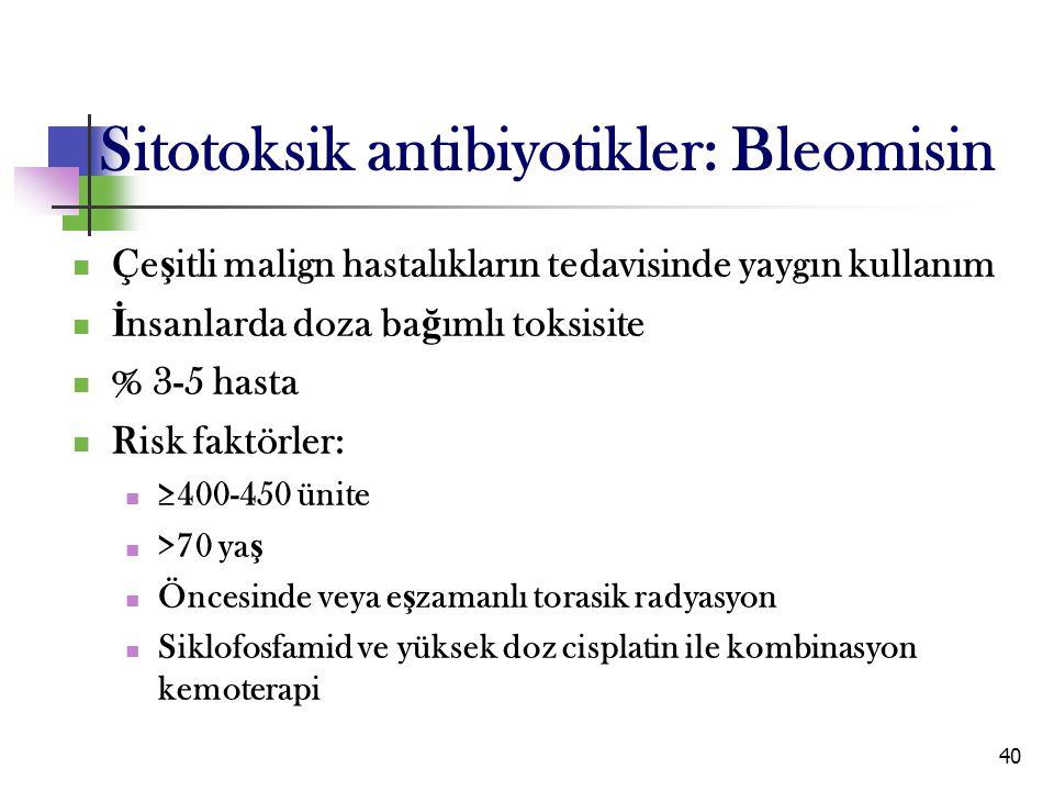 Sitotoksik antibiyotikler: Bleomisin