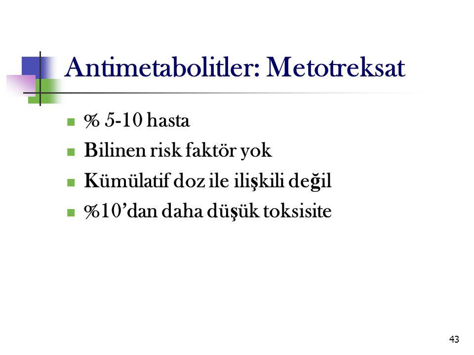 Antimetabolitler: Metotreksat