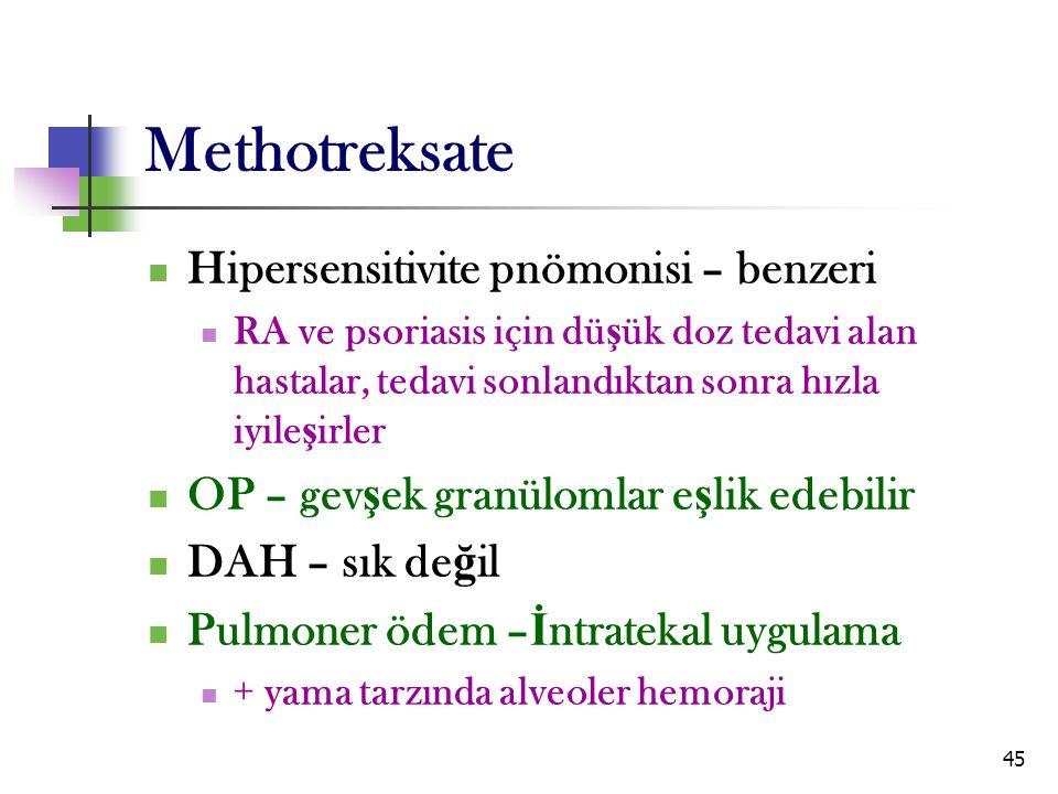 Methotreksate Hipersensitivite pnömonisi – benzeri