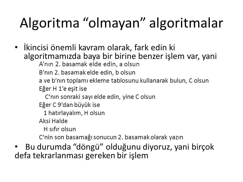 Algoritma olmayan algoritmalar