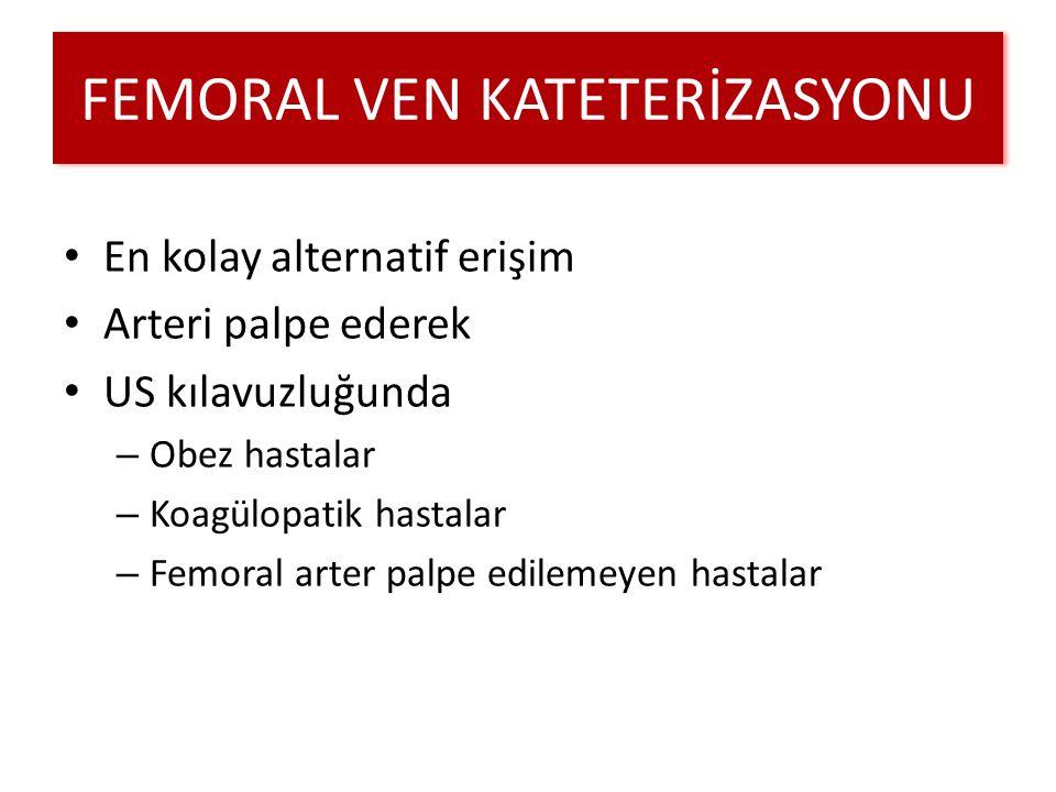 FEMORAL VEN KATETERİZASYONU