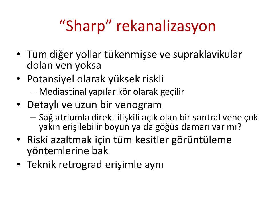 Sharp rekanalizasyon