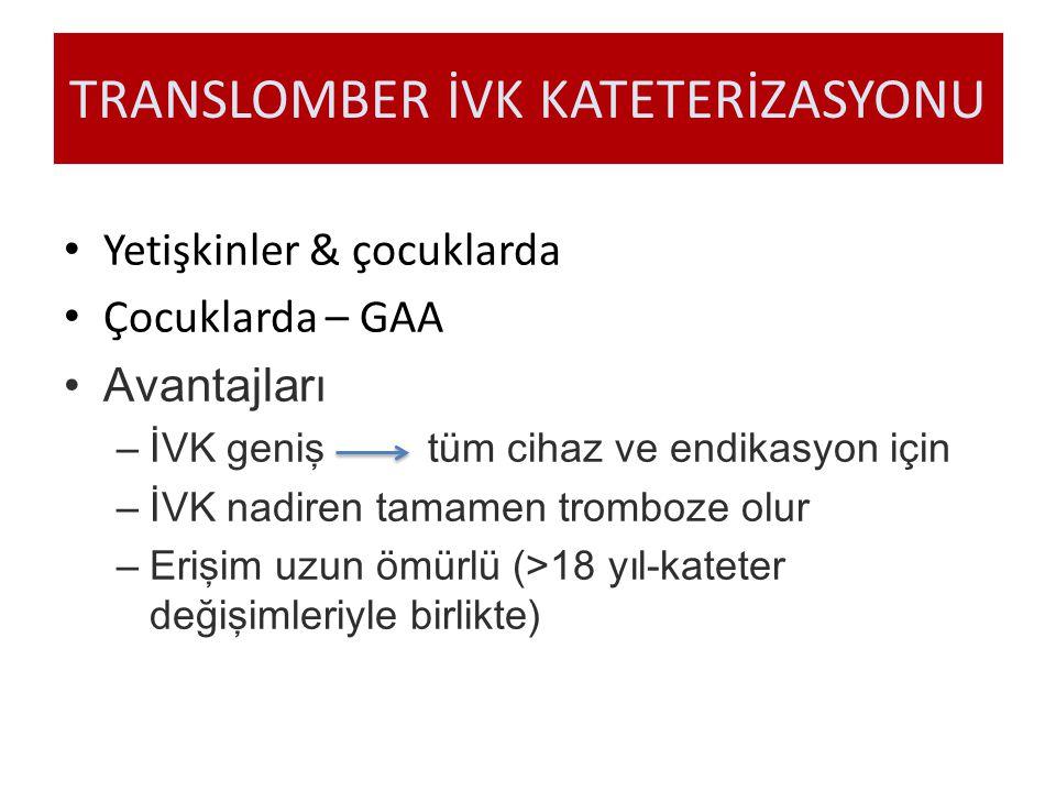 TRANSLOMBER İVK KATETERİZASYONU