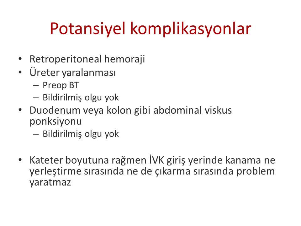Potansiyel komplikasyonlar