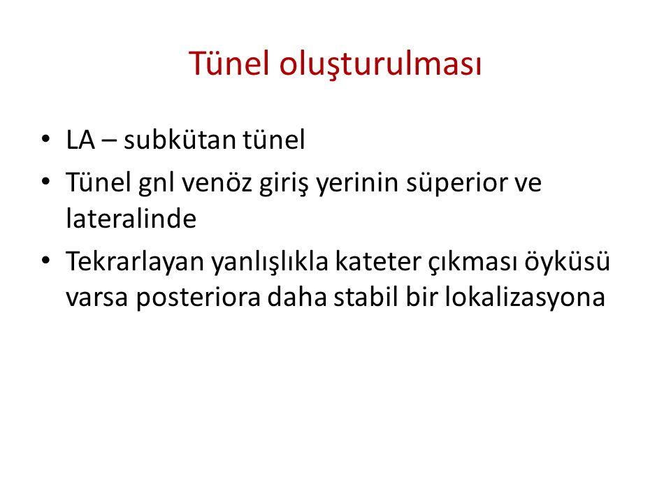 Tünel oluşturulması LA – subkütan tünel