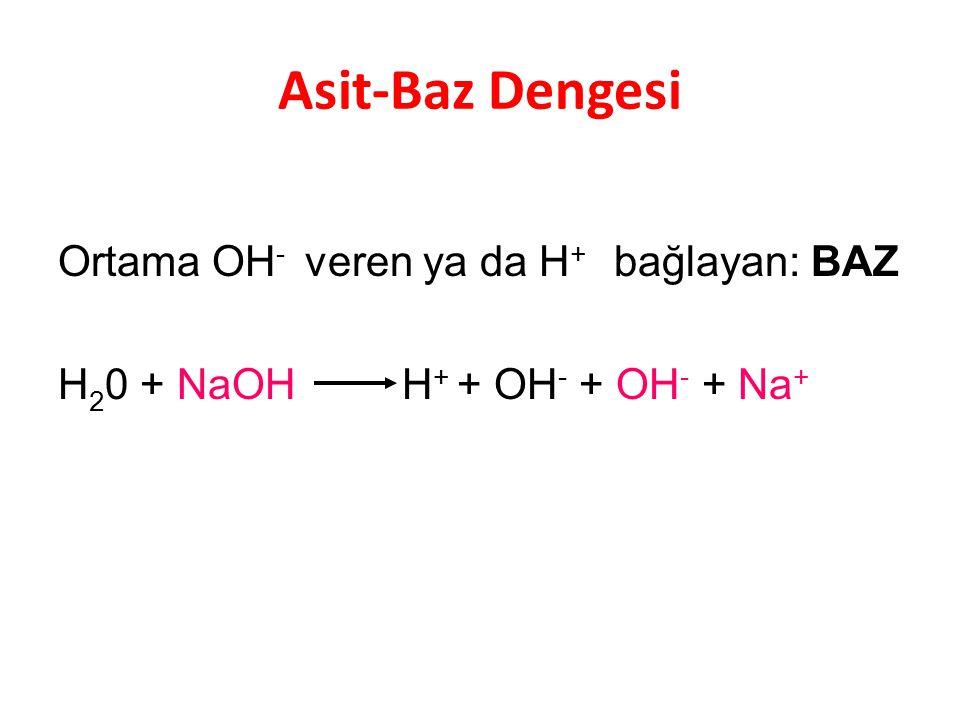 Asit-Baz Dengesi Ortama OH- veren ya da H+ bağlayan: BAZ