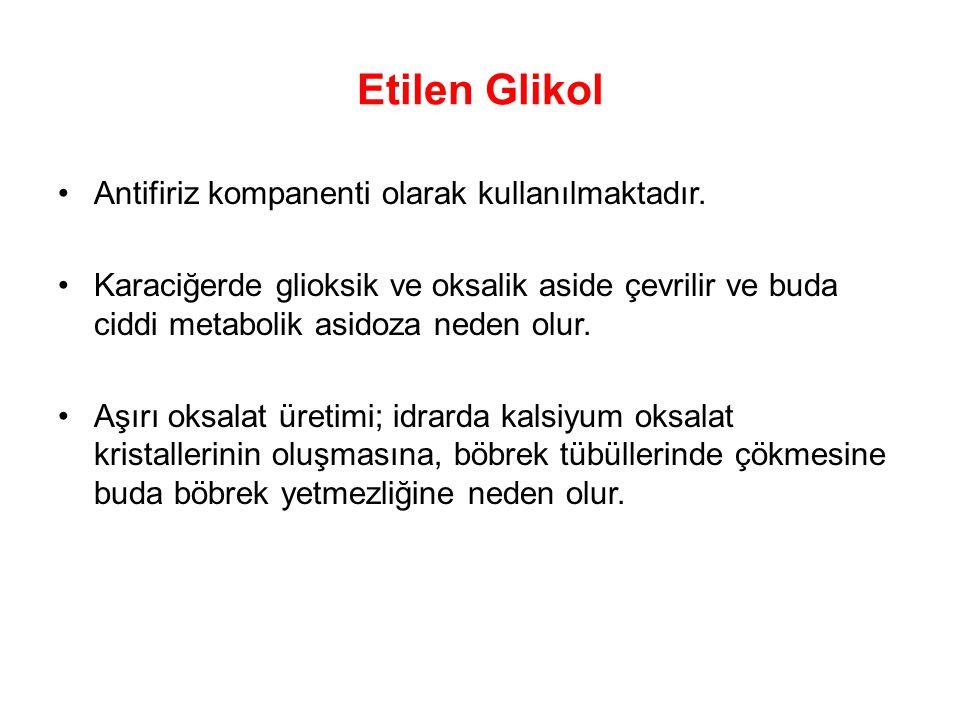 Etilen Glikol Antifiriz kompanenti olarak kullanılmaktadır.