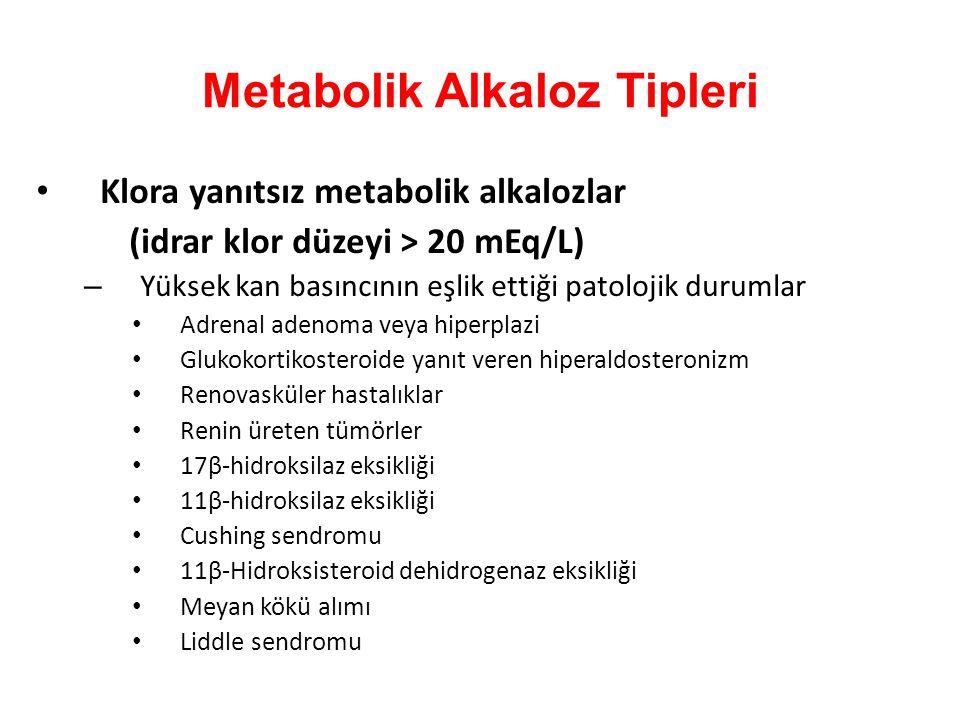 Metabolik Alkaloz Tipleri
