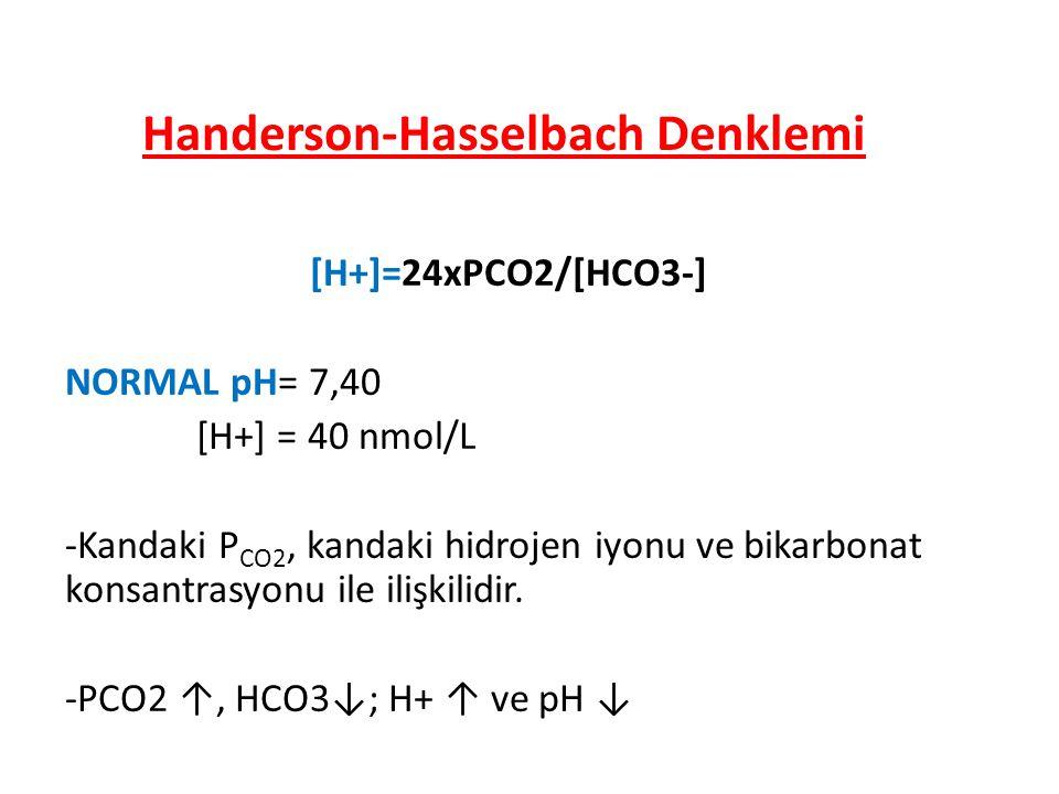 Handerson-Hasselbach Denklemi