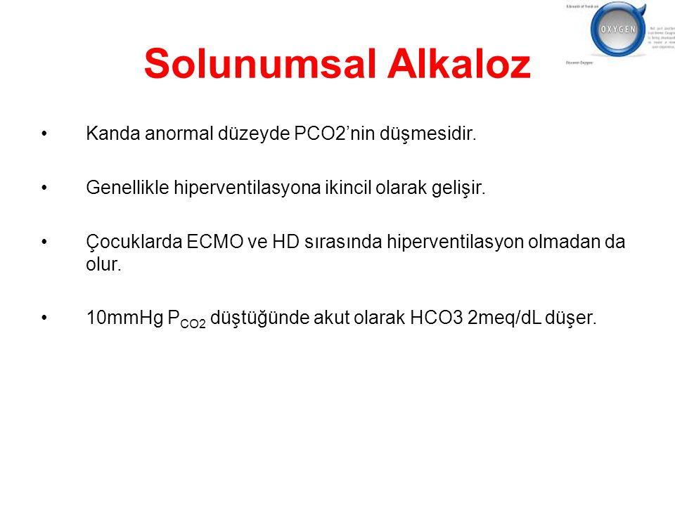 Solunumsal Alkaloz Kanda anormal düzeyde PCO2'nin düşmesidir.