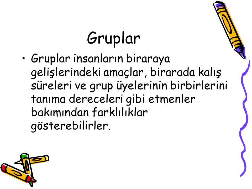 Gruplar