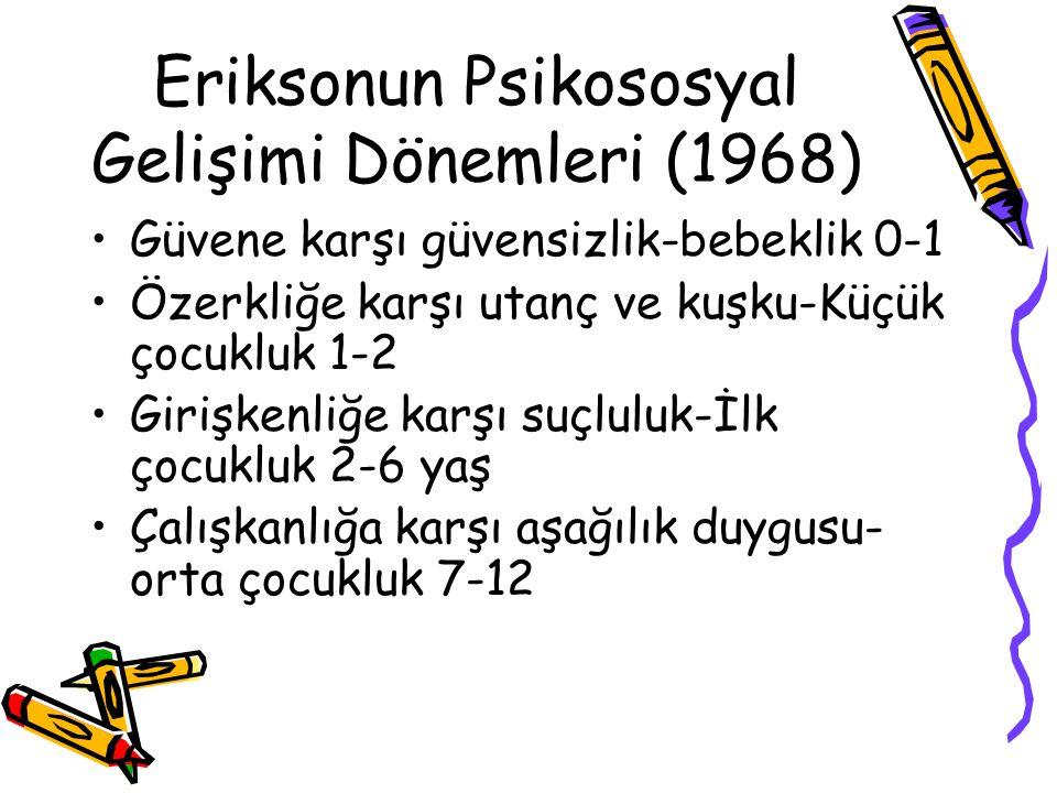Eriksonun Psikososyal Gelişimi Dönemleri (1968)