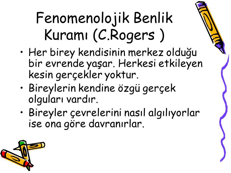Fenomenolojik Benlik Kuramı (C.Rogers )