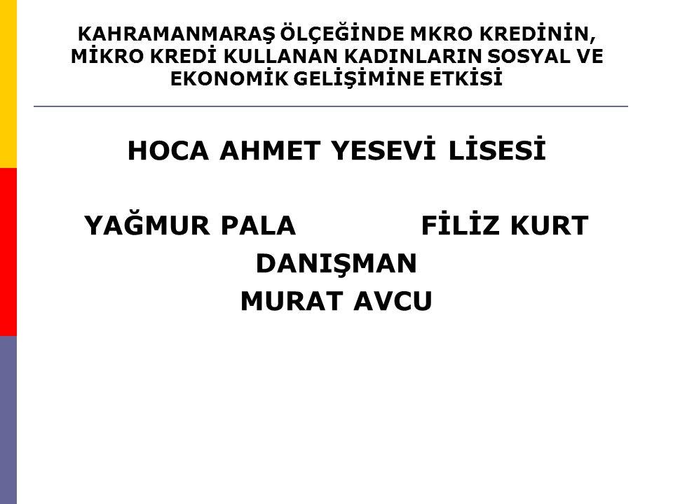 HOCA AHMET YESEVİ LİSESİ