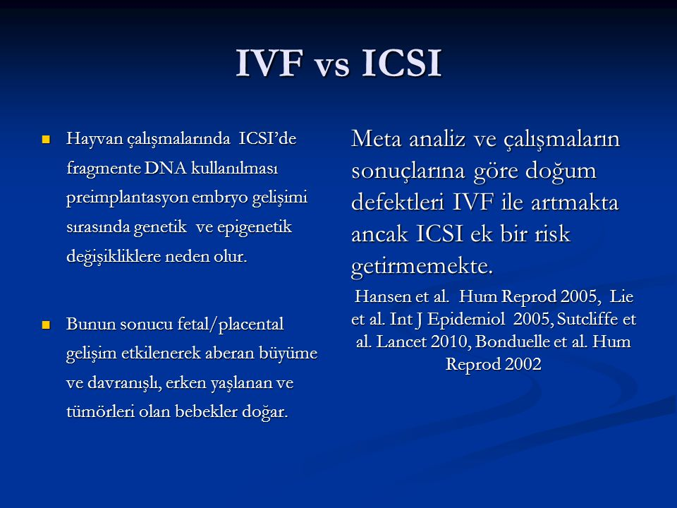 IVF vs ICSI