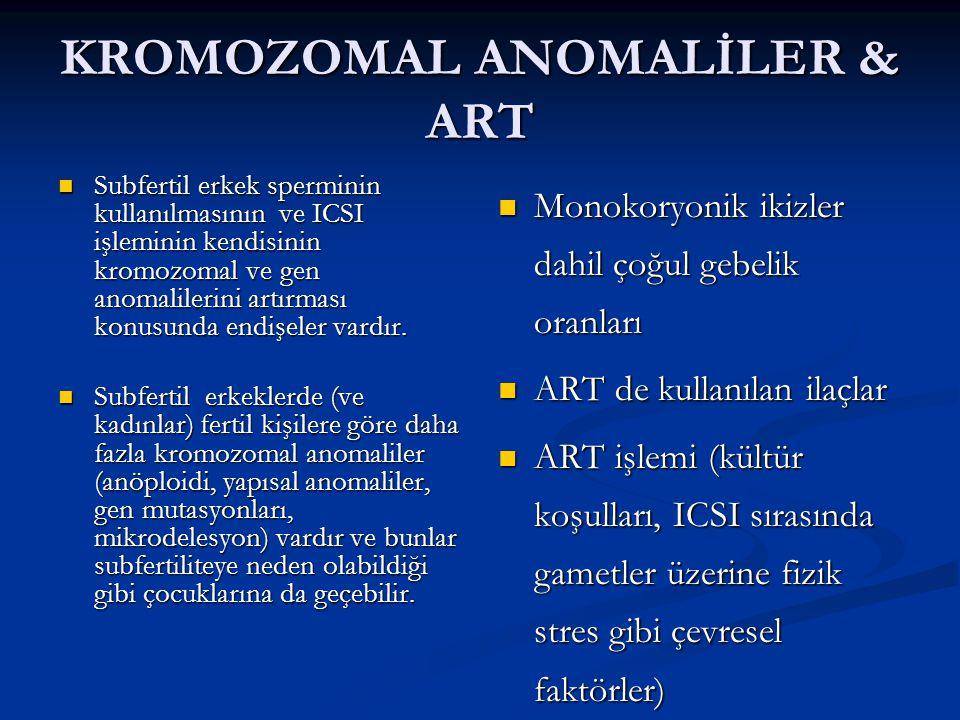 KROMOZOMAL ANOMALİLER & ART