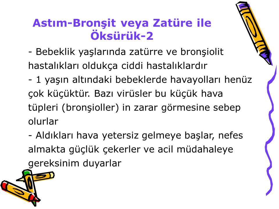 Astım-Bronşit veya Zatüre ile Öksürük-2