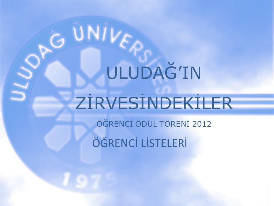 ULUDAĞ'IN ZİRVESİNDEKİLER ÖĞRENCİ ÖDÜL TÖRENİ 2012