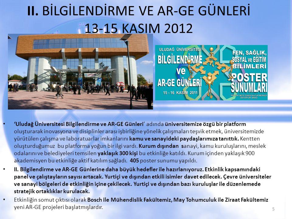 II. BİLGİLENDİRME VE AR-GE GÜNLERİ 13-15 KASIM 2012