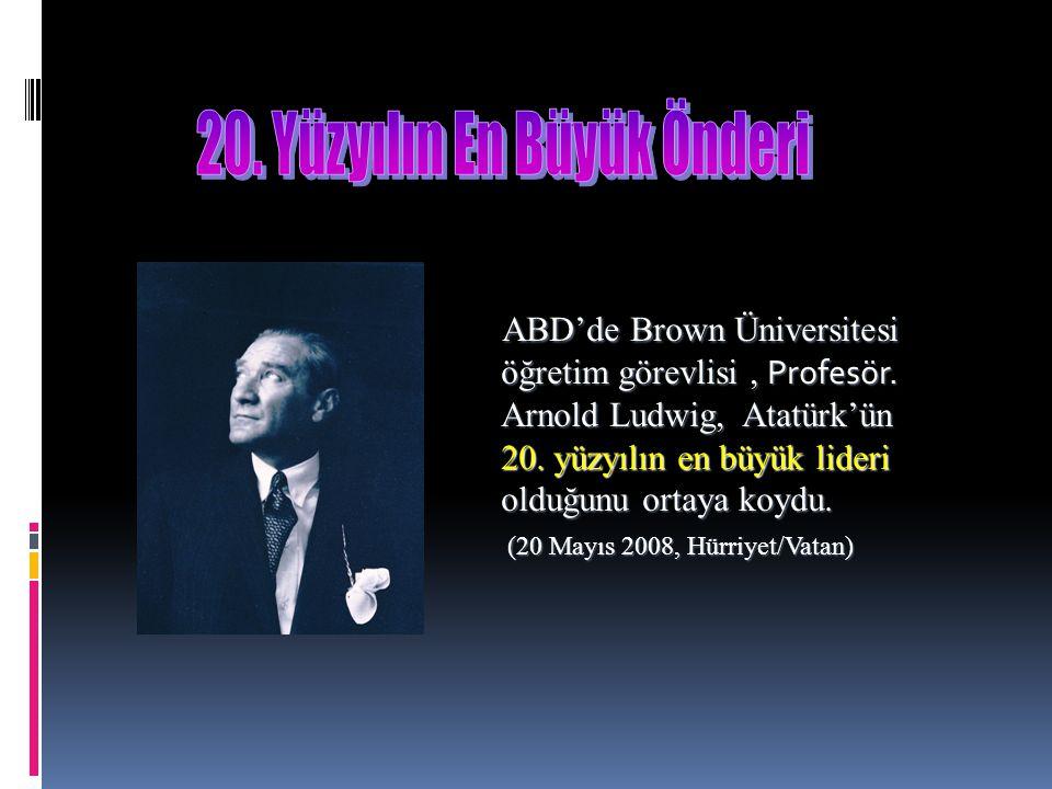20. Yüzyılın En Büyük Önderi