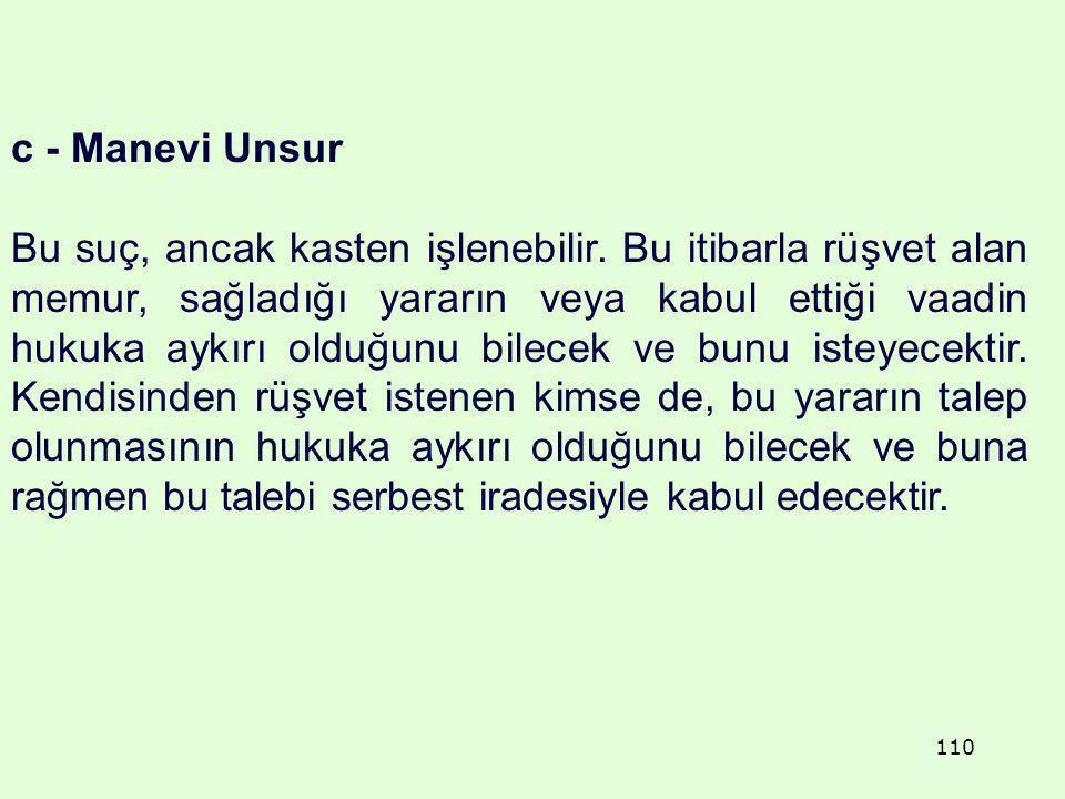 c - Manevi Unsur