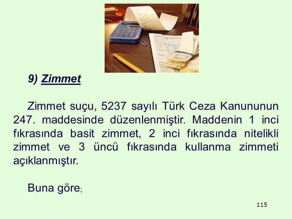 9) Zimmet